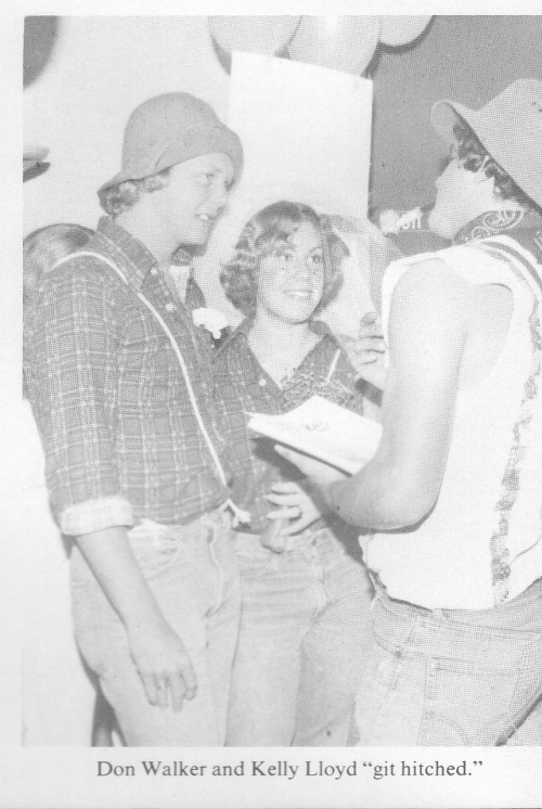 Don Walker and Kelly Lloyd at the Sadie Hawkins Dance.
