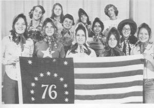 The '76 Spirit Club'.  Remember the Bicentennial?  Our Class Motto was: We've go spirit, we're so great, we're the