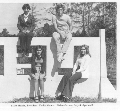 These are our Junior Class Officers from 1977.