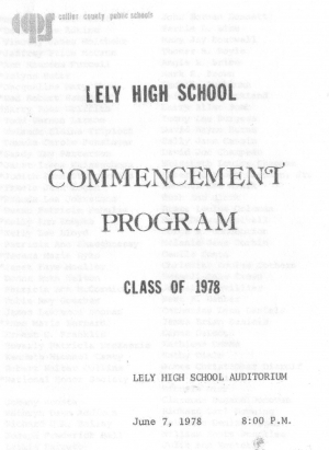 Our Commencement Program for Graduation Day.
