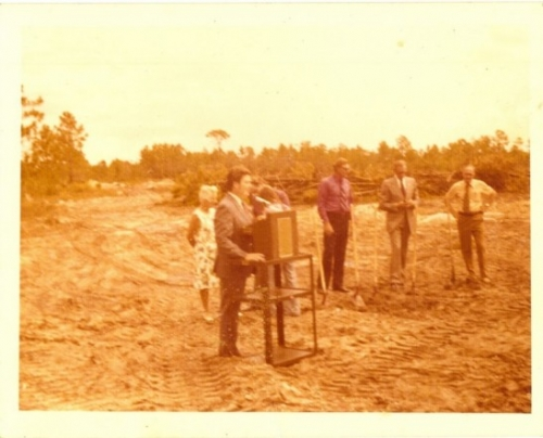 Before our school was 'our' school.  Groundbreaking at Lely  High.