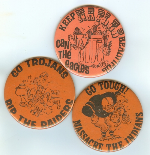 Who could forget the buttons we made for all those football games.  I know we all had at least one of these.  Thanks to