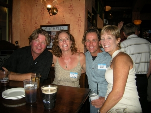 Jon Norris, Sue Bailey (LHS'79), Steve 'Buzzy' Krist, and Robin Ide